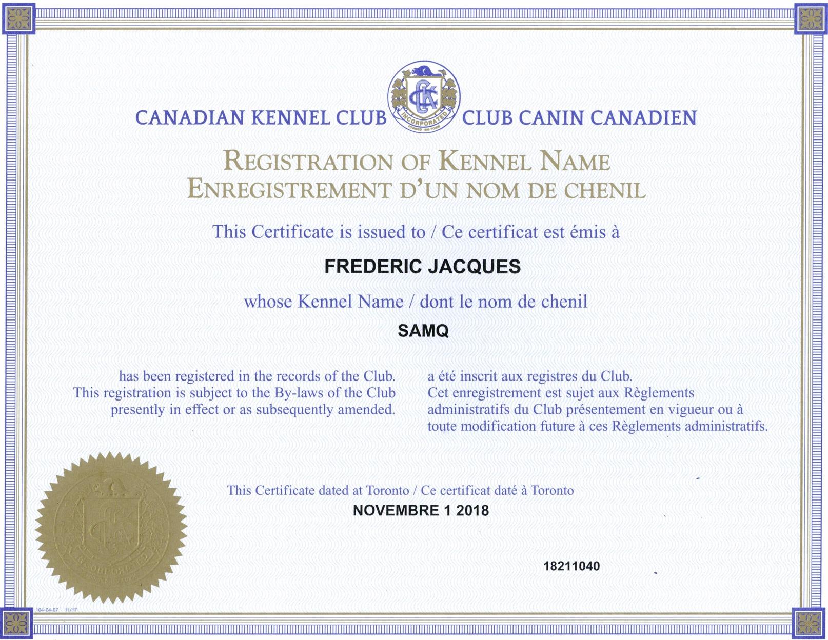 Samoyède Québec - SAMQ